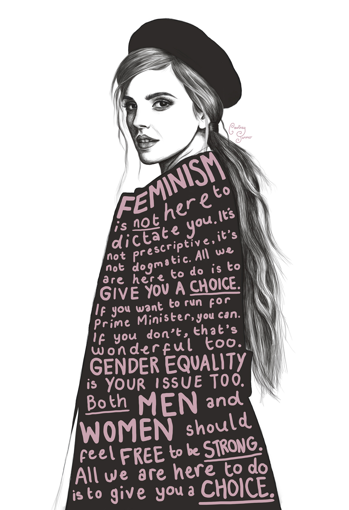 Image result for emma watson feminism illustration