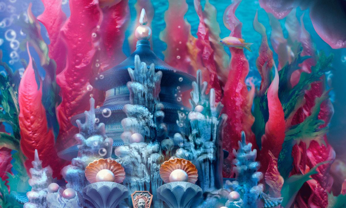 concept ILLUSTRATION  Visual Development underwater collage Photo Manipulation  imaginable matte painting   mermaid