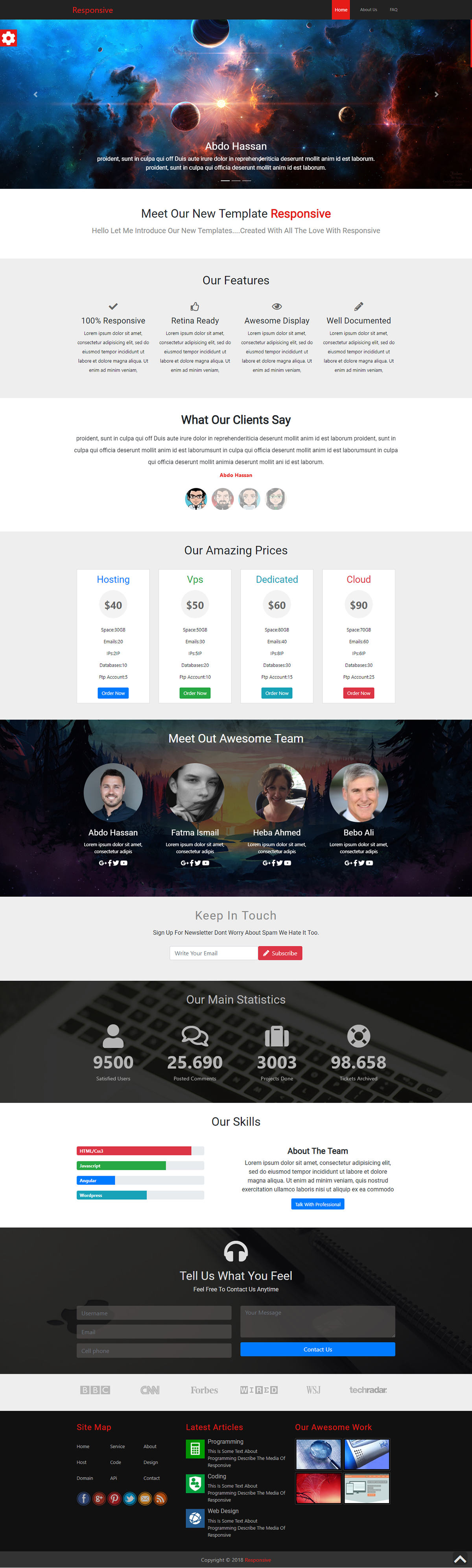 HTML css bootstrap JavaScript UI design Web