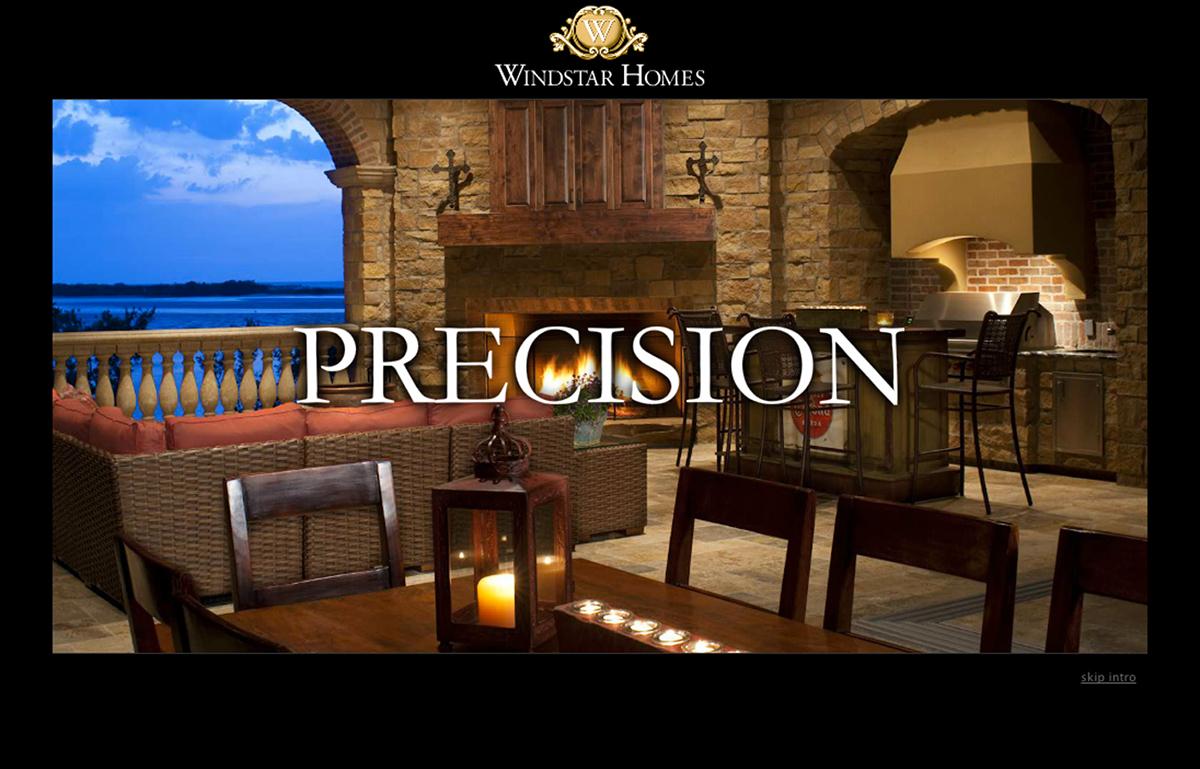 Windstar Homes Website on Behance
