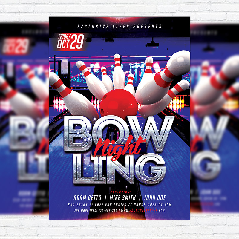 bowl,bowling,alley,Bowling Championship,Bowling Club,Competition,Bowling Event,flyer,bowling flyer,bowling flyer template,bowling flyers,game night,match,bowling night