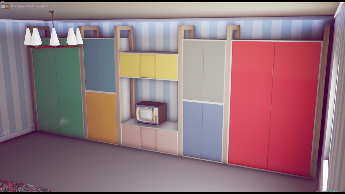 Vintage 50s Furniture Pack [Unity 5, UE4] on Behance