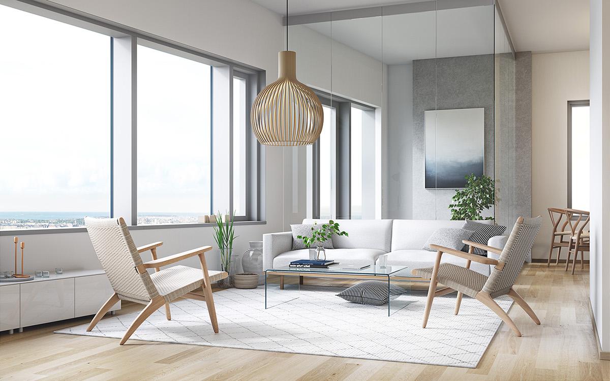 redi apartments living room on behance