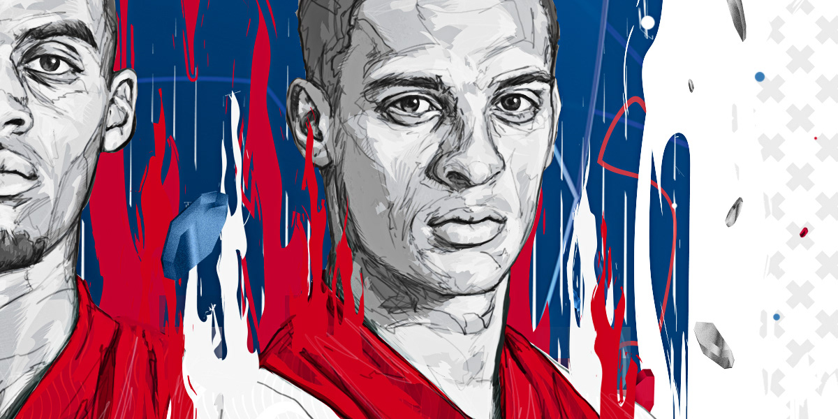 Drawing  face football game ILLUSTRATION  portrait sport vector adidas athlete