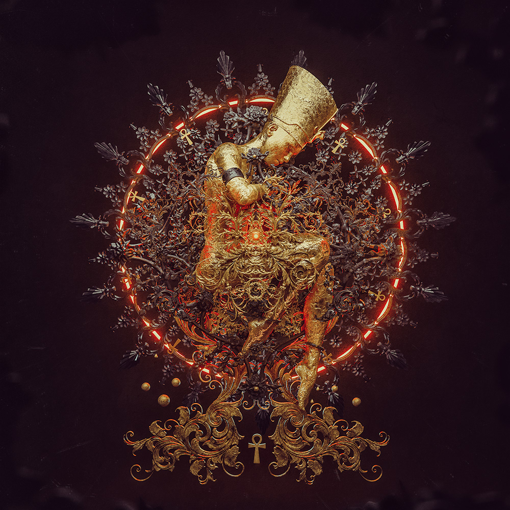 3D adobe dark egypt music nefertiti photomanipulation Ps25Under25 Sci Fi surreal
