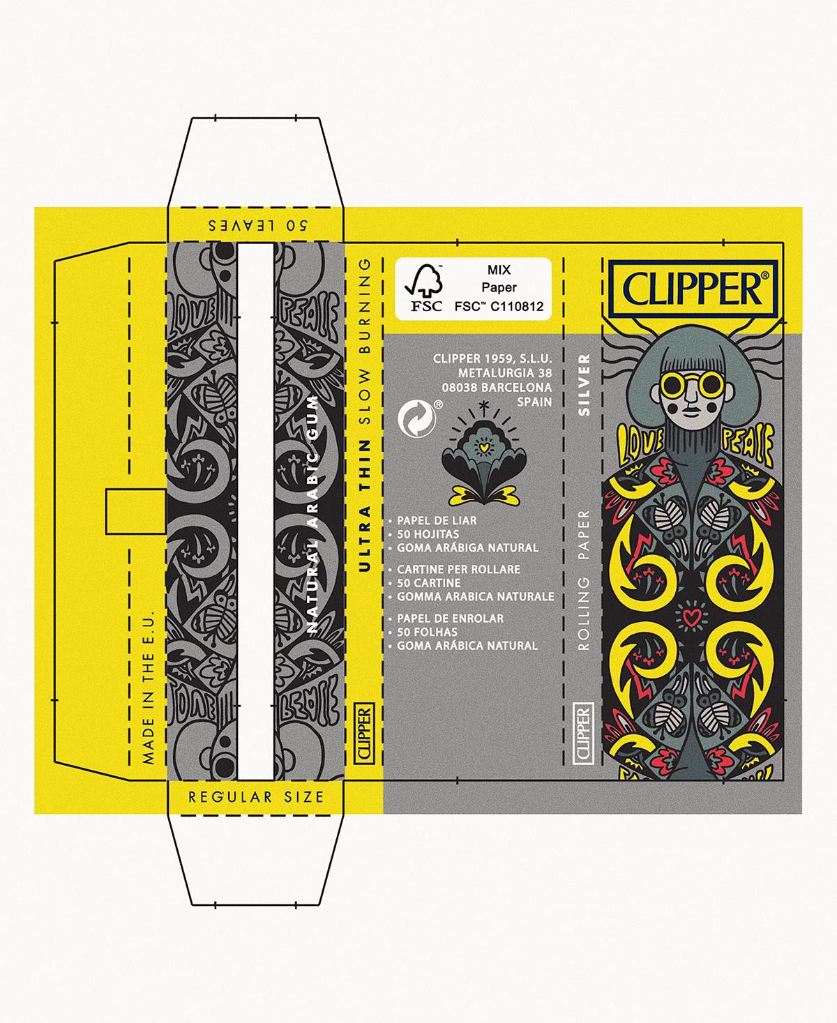 Clipper tobacco Delayah ILLUSTRATION  Illustrator artist artwork Drawing  digitalart hippie
