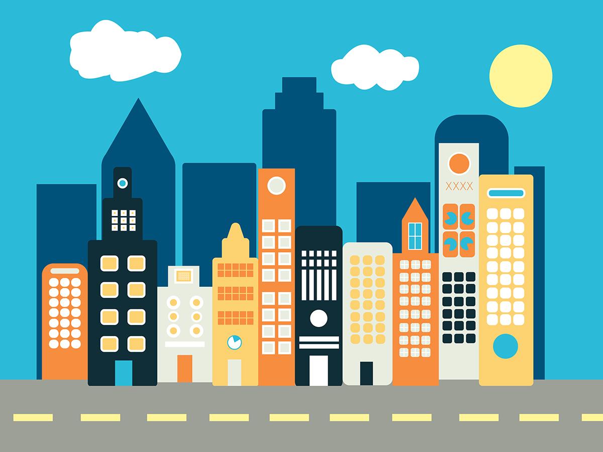 Flat Icon City On Behance