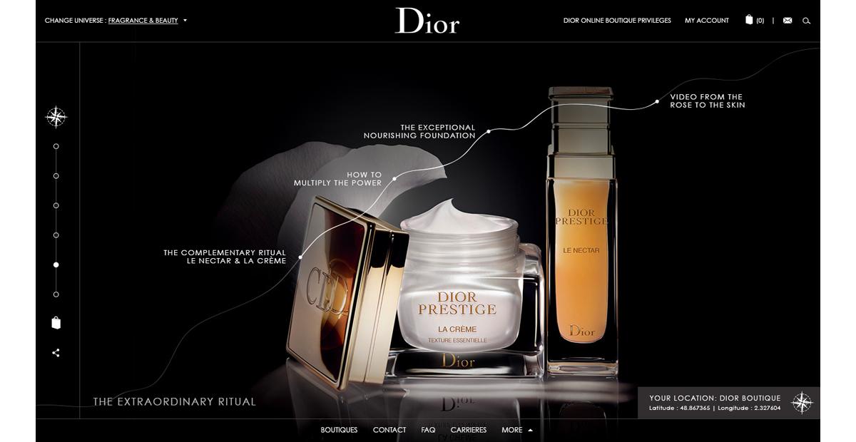 Webdesign digital luxe mini site Lancement produit webgl js Experience