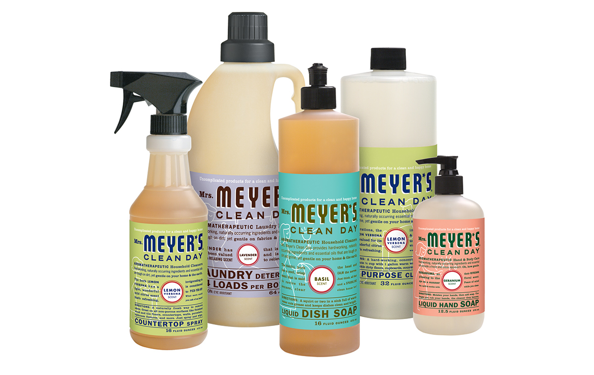 with scents borrowed from a midwest backyard garden ingredients and essential oils the mrs meyeru0027s product line works like the dickens on