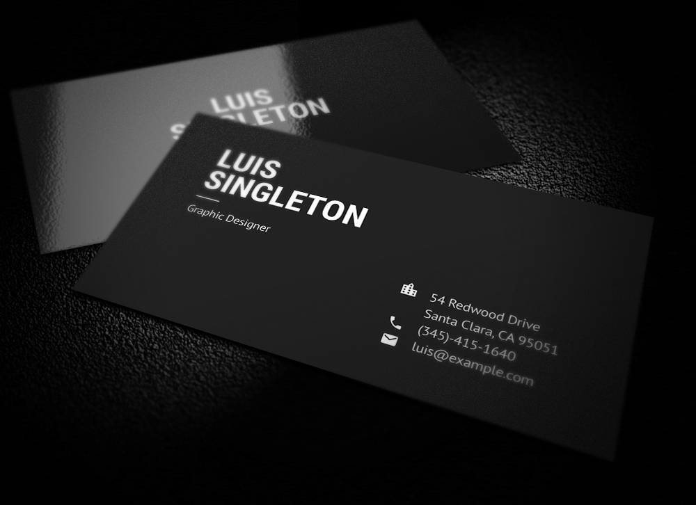 Clean and minimal business card template on behance friedricerecipe Choice Image