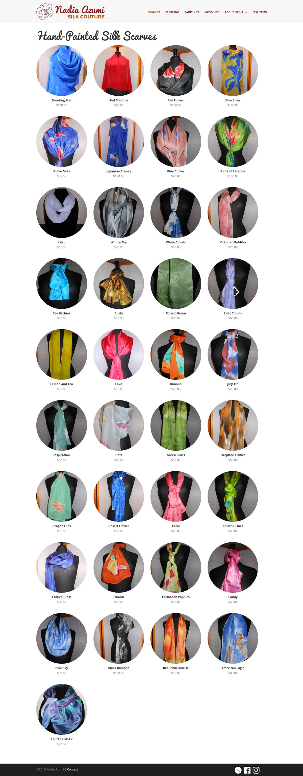 Nadia Azumi Silk Couture Website