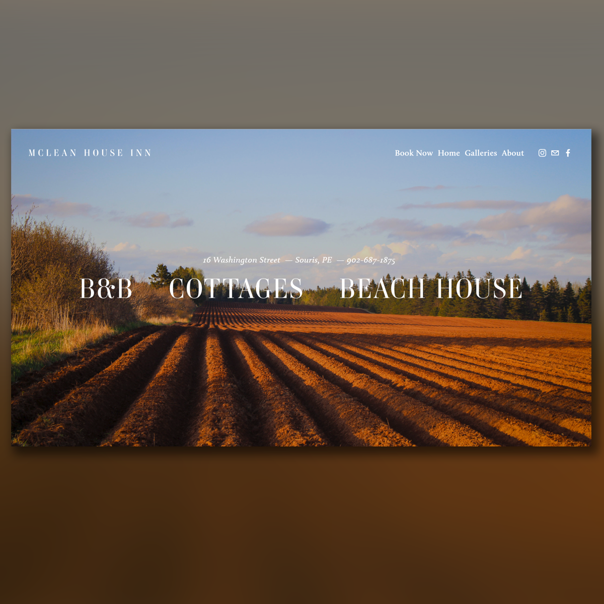 inn Accommodations Cottages beach ocean front Booking Canada Prince Edward Island Website Design Web