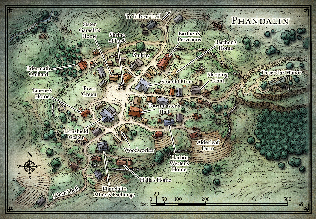 Map of Phandalin