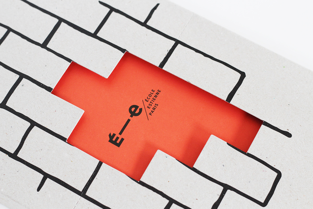 Layout cardboard reporter brick wall Program Event