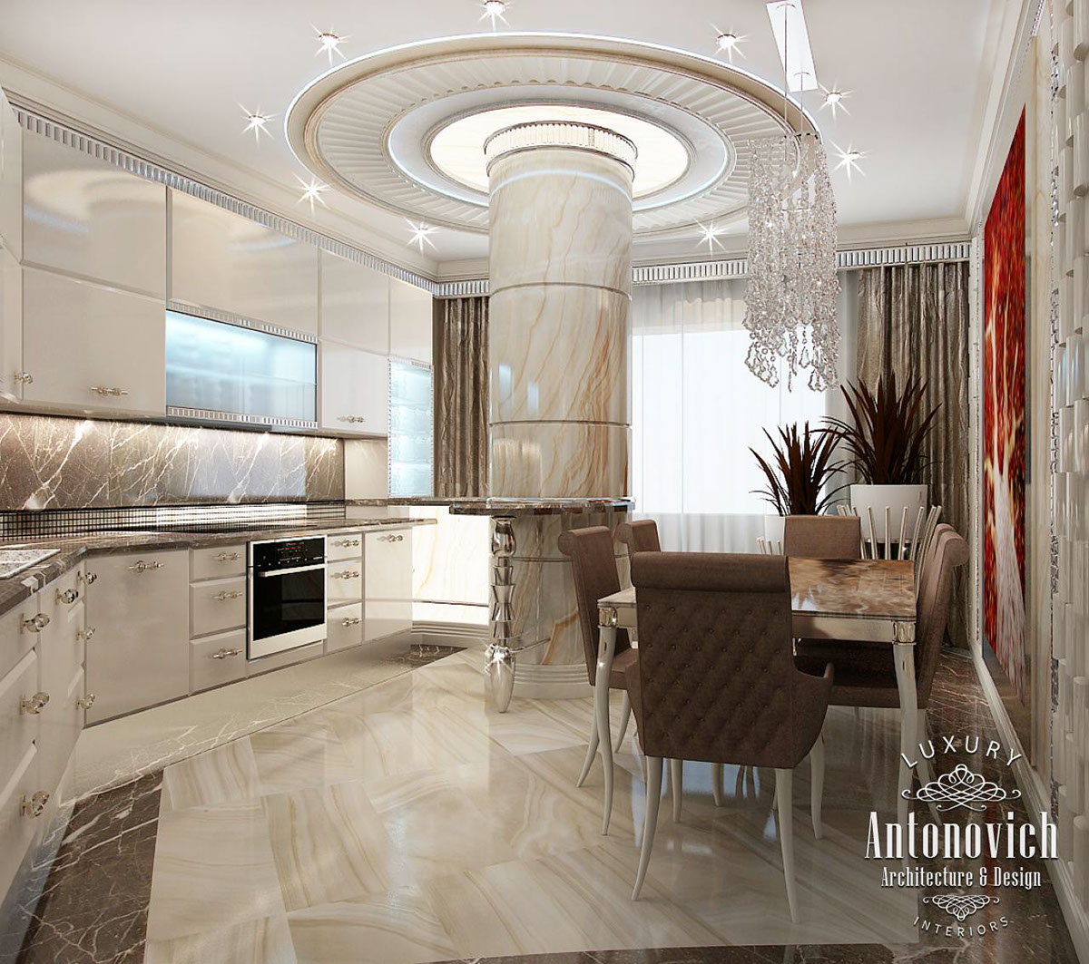 Katrina Antonovich Luxury Interior Design: Kitchen Dubai From Luxury Antonovich Design On Behance