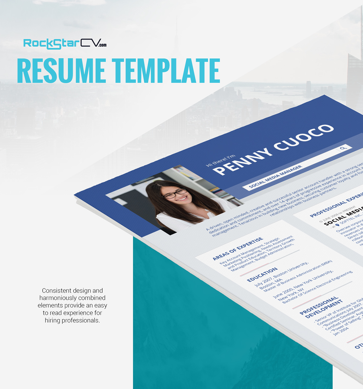 Resume Template Facebook On Wacom Gallery
