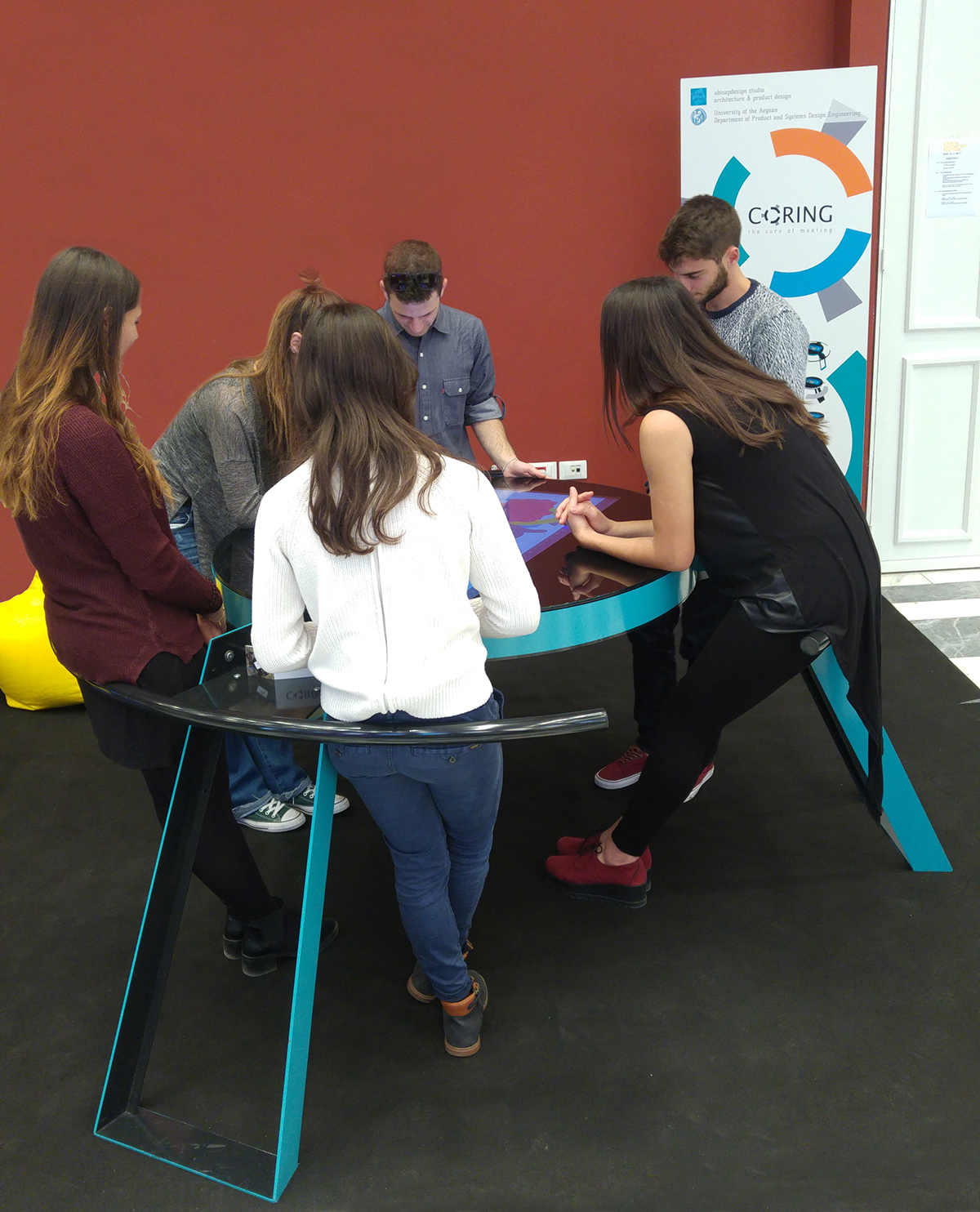 meeting interactive Collaboration furniture business innovation touch rotation design Office