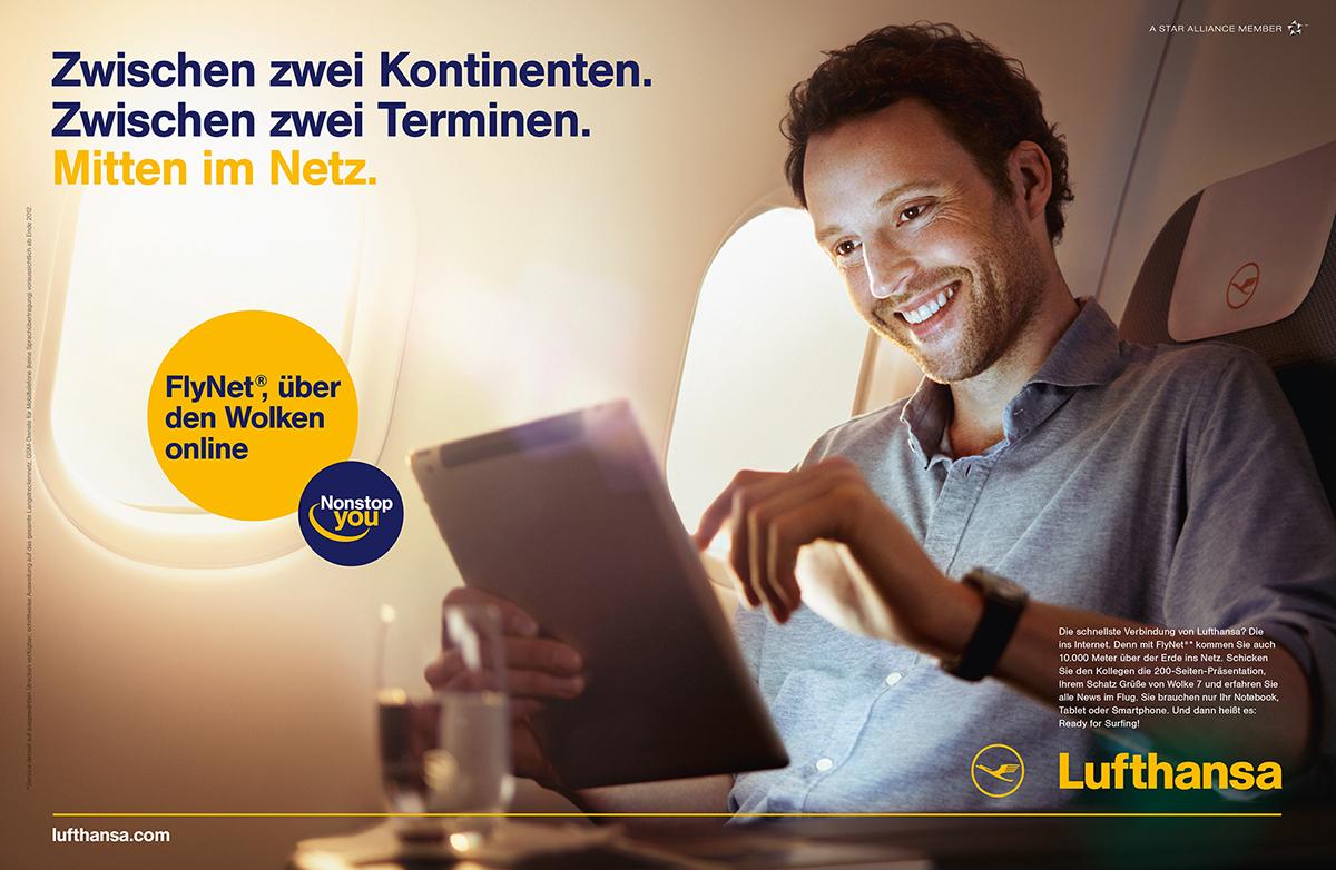 Lufthansa Werbung