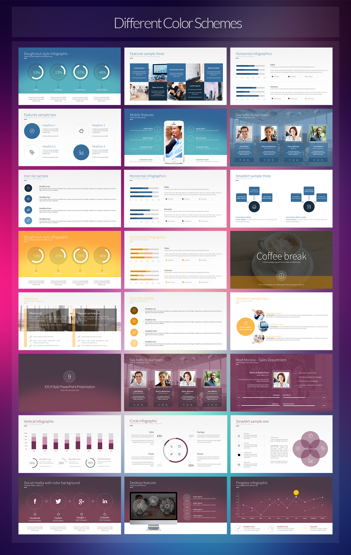 ios 9 style powerpoint template on behance, Presentation templates
