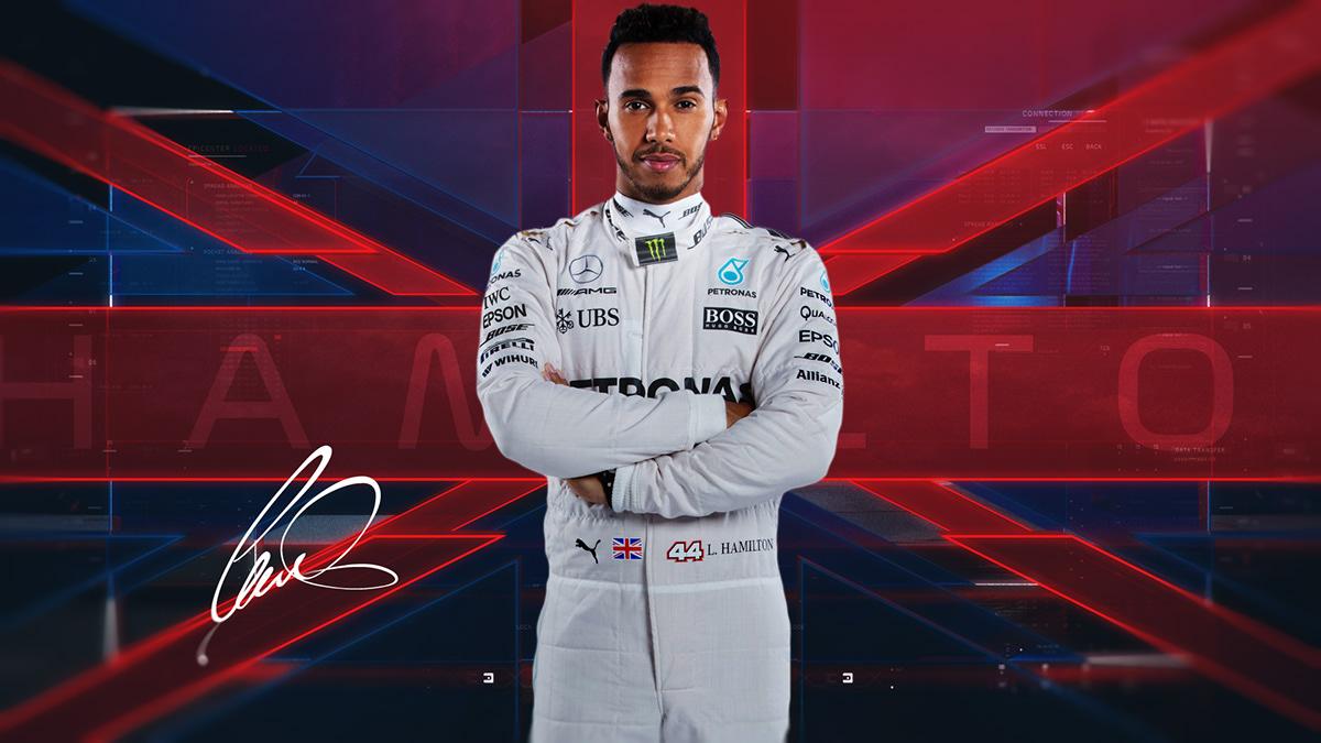 formula one f1 GRAND PRIX motor sports Racing lewis hamilton branding  motion graphics  sebastian vettel