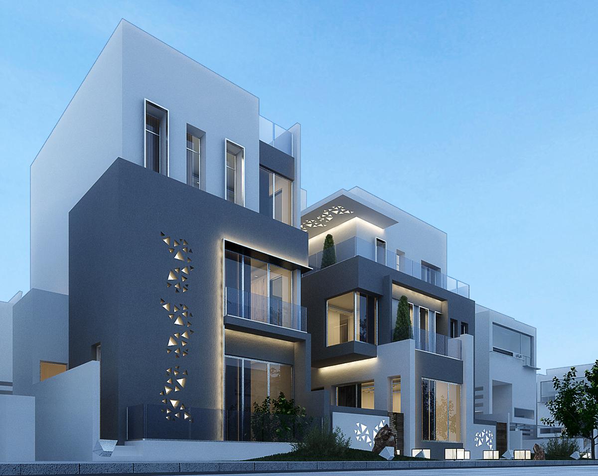 Modern villa in kuwait on Behance