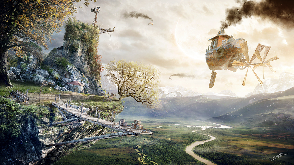 The Brink From Matte Painting To Animation On Behance