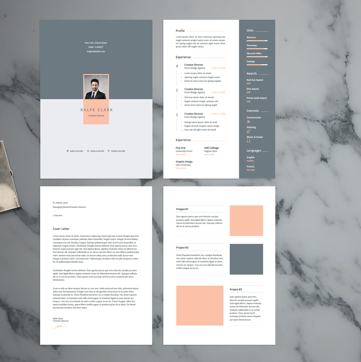 Best free resume templates on behance velli resume template pronofoot35fo Images