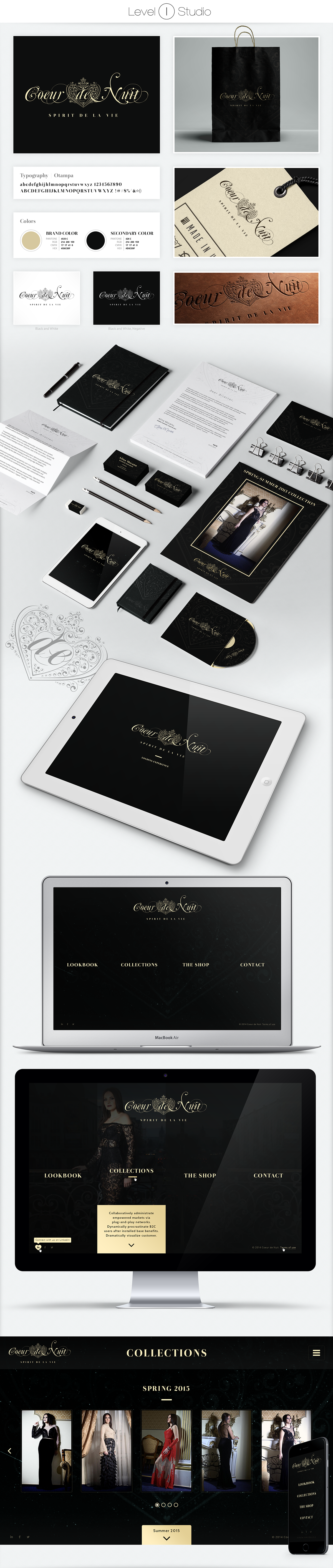 Corporate Identity Website Design Clothing fancy user interface design Responsive mobile clean sexy Logo Design artsy