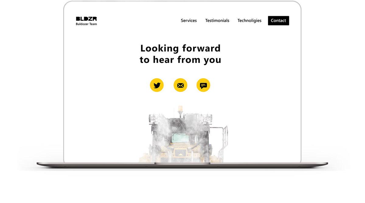 devops microsite bulldozer dozer Responsive Website longread fog