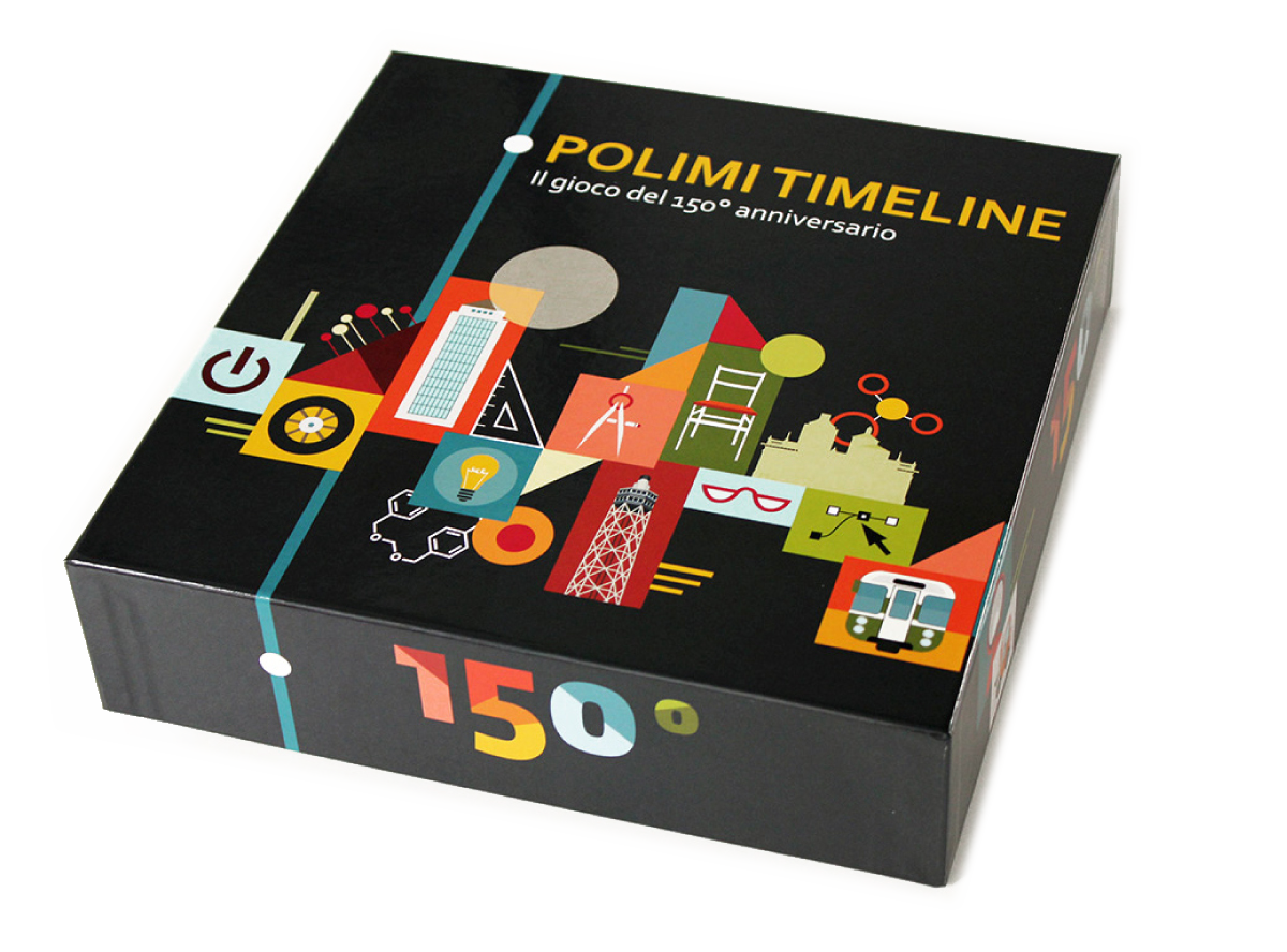 Polimi timeline boardgame illustration on behance for Polimi design