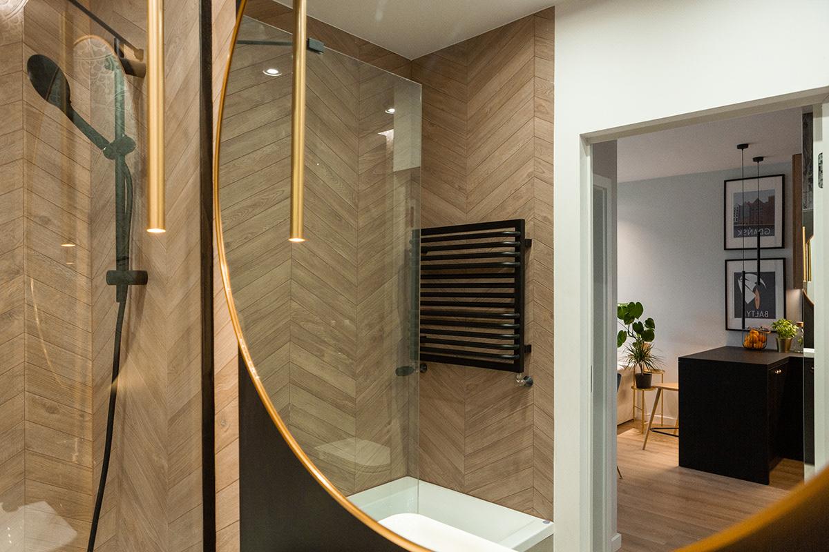 architecture design flat Interior krusel apartment black LOFT Rent Seaside