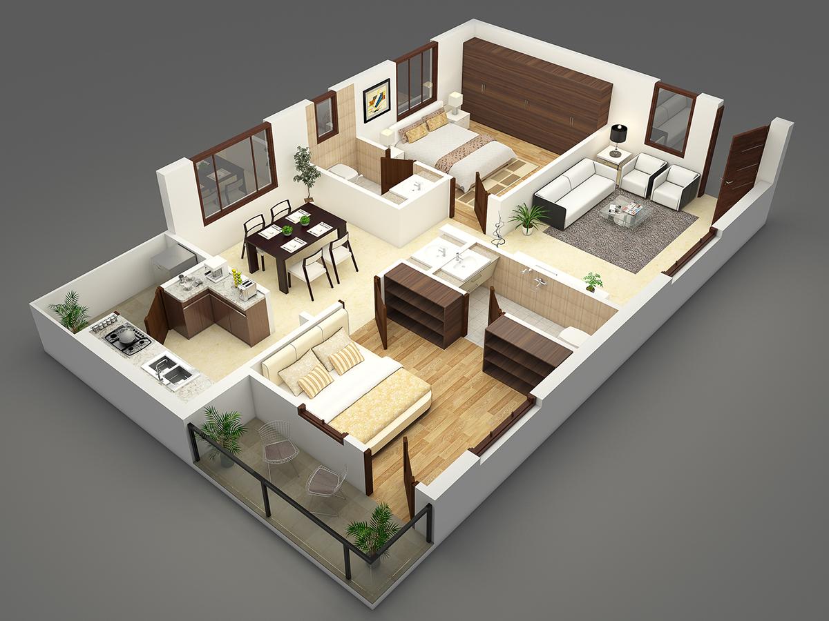 Desain rumah minimalis 3D