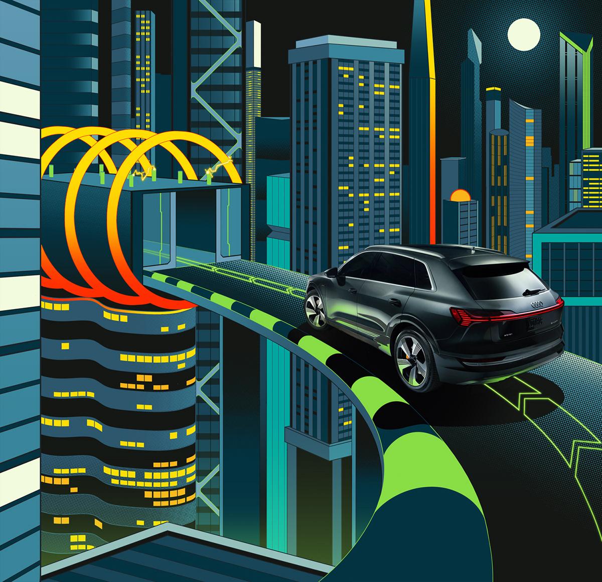 Audi Ilustración Diseño Corporativo