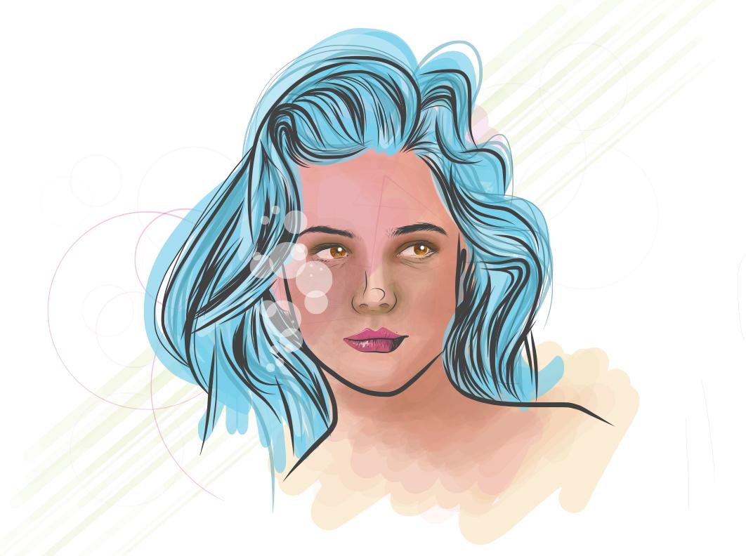 portrait women draw app