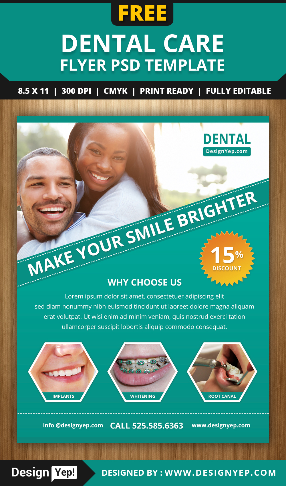 free dental care flyer psd template on behance