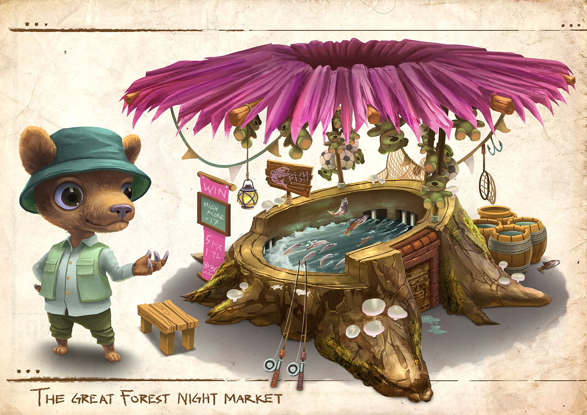 market stall Character forest