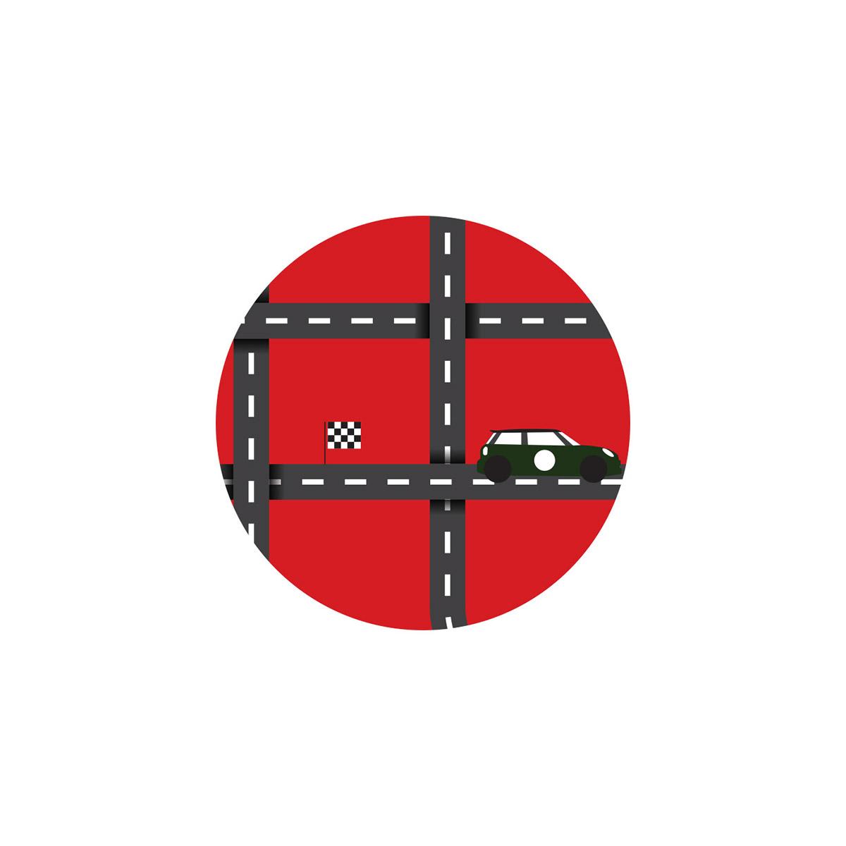 MINI Cooper S JCW Racing rally artwork Nanni Nember minimal minimaldesign inminimalwetrust