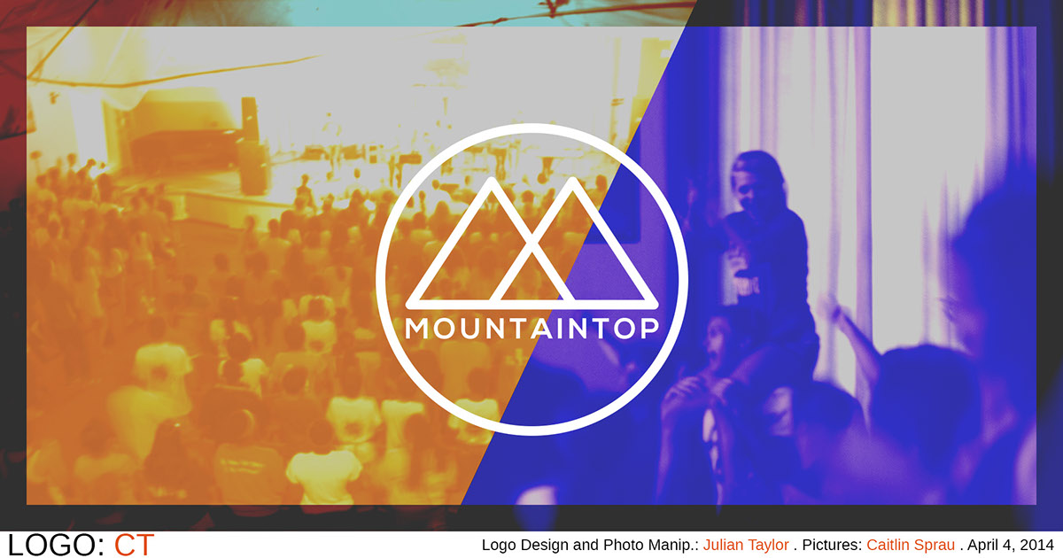 logo sketch design mountain top youth conference Christian