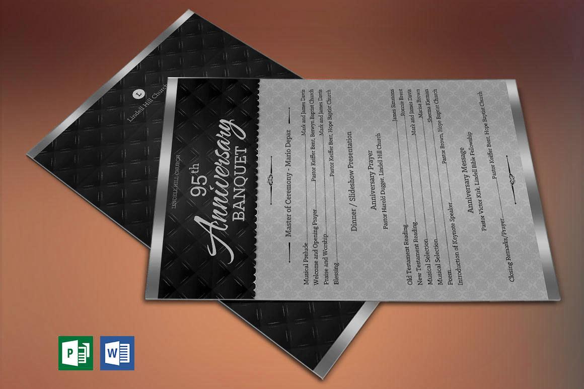 silver church anniversary one sheet program publisher w on behance