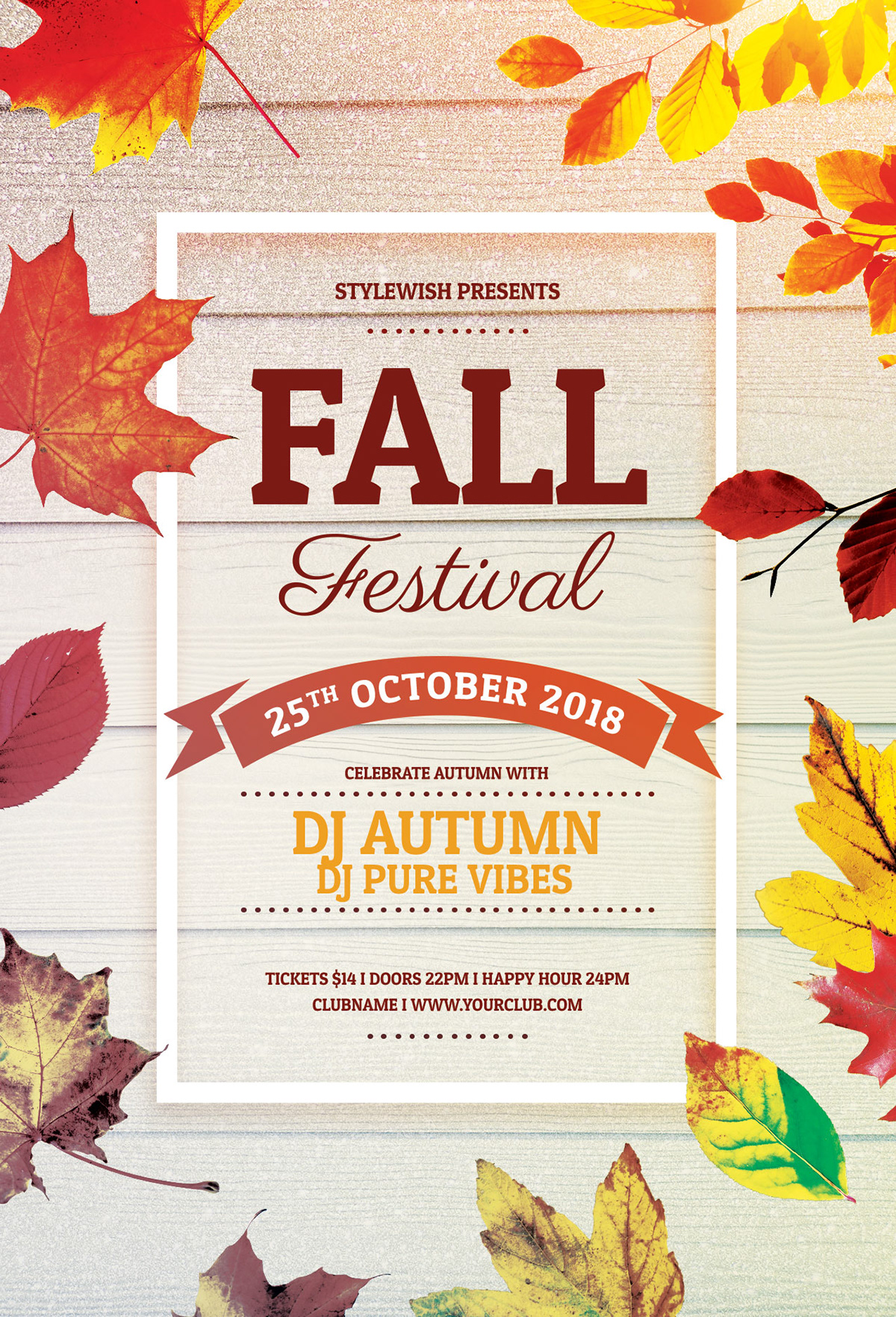 this psd flyer template is designed to promote a fall event