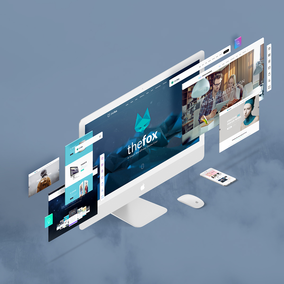 The Screens Free Perspective Psd Mockup Template On Behance