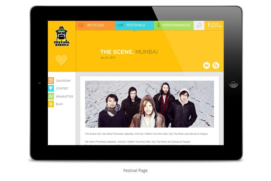 festivals design Website colorful