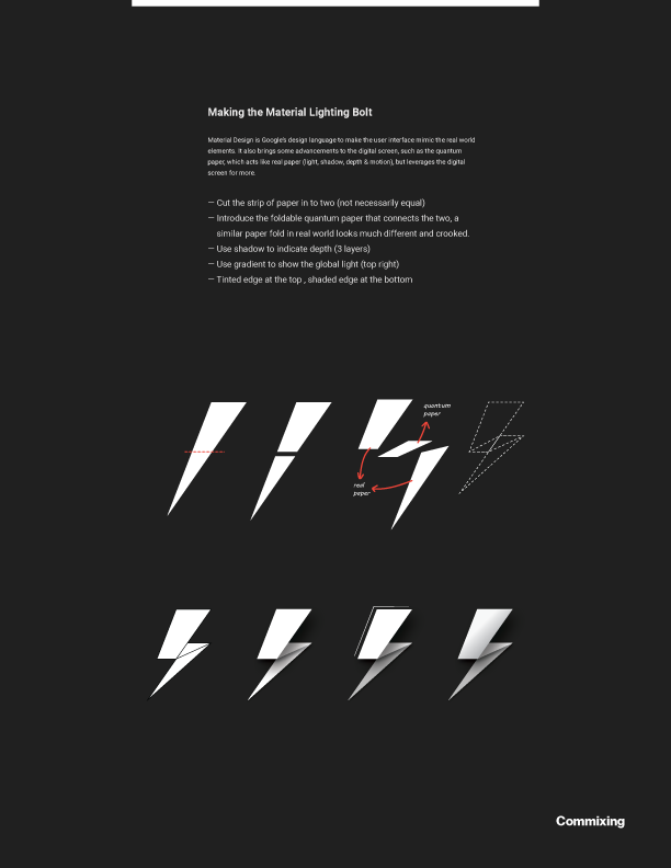 & Lightning Bolt Logo - Material Design on Behance
