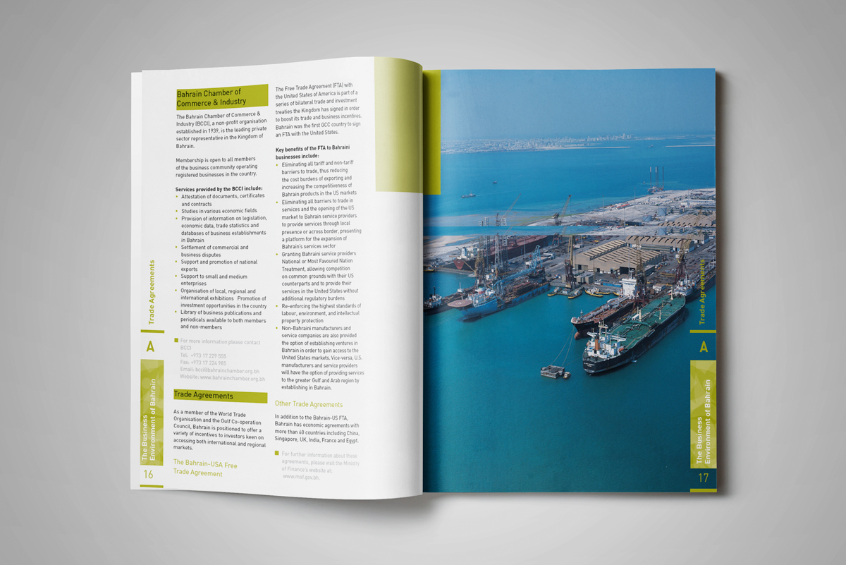 Setting up a Business in Bahrain Book Layout on Behance
