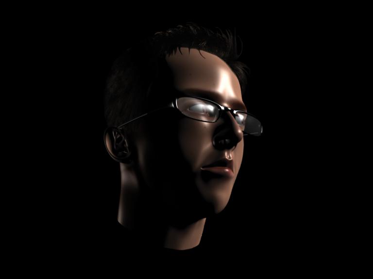 3D face Ilustração