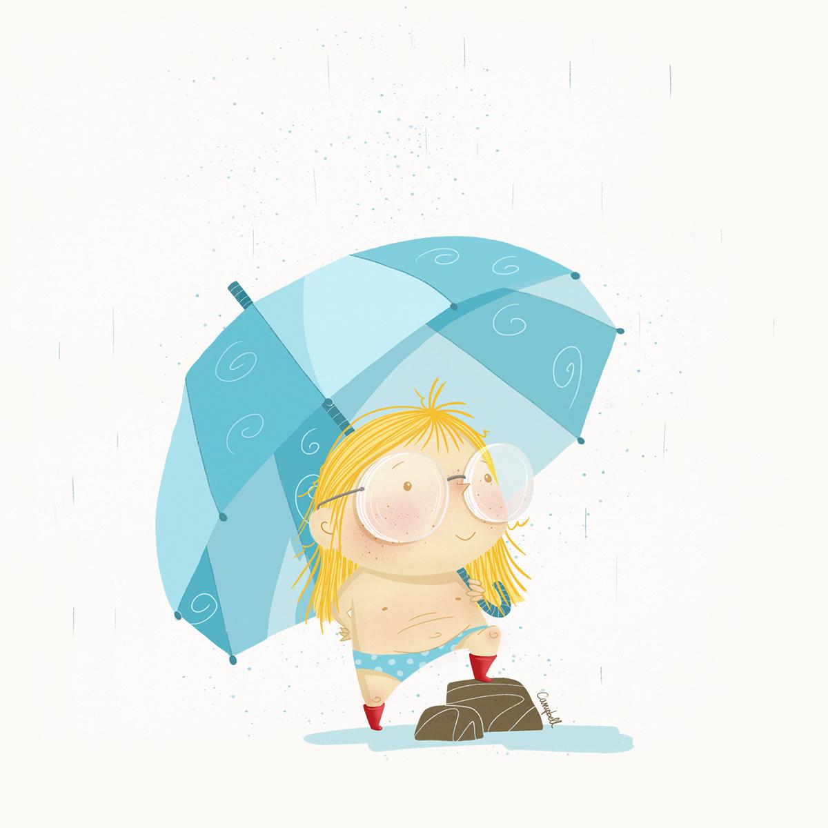Image may contain: cartoon, umbrella and accessory