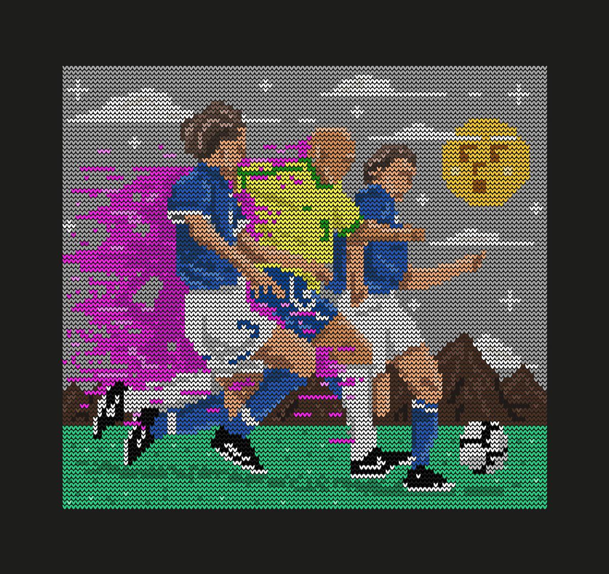 Brasil football Futbol futebol ILLUSTRATION  ilustracion italia Ronaldo stitch surreal