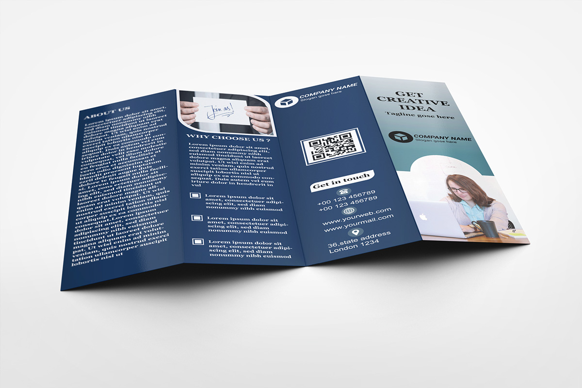 four fold brochure on behance