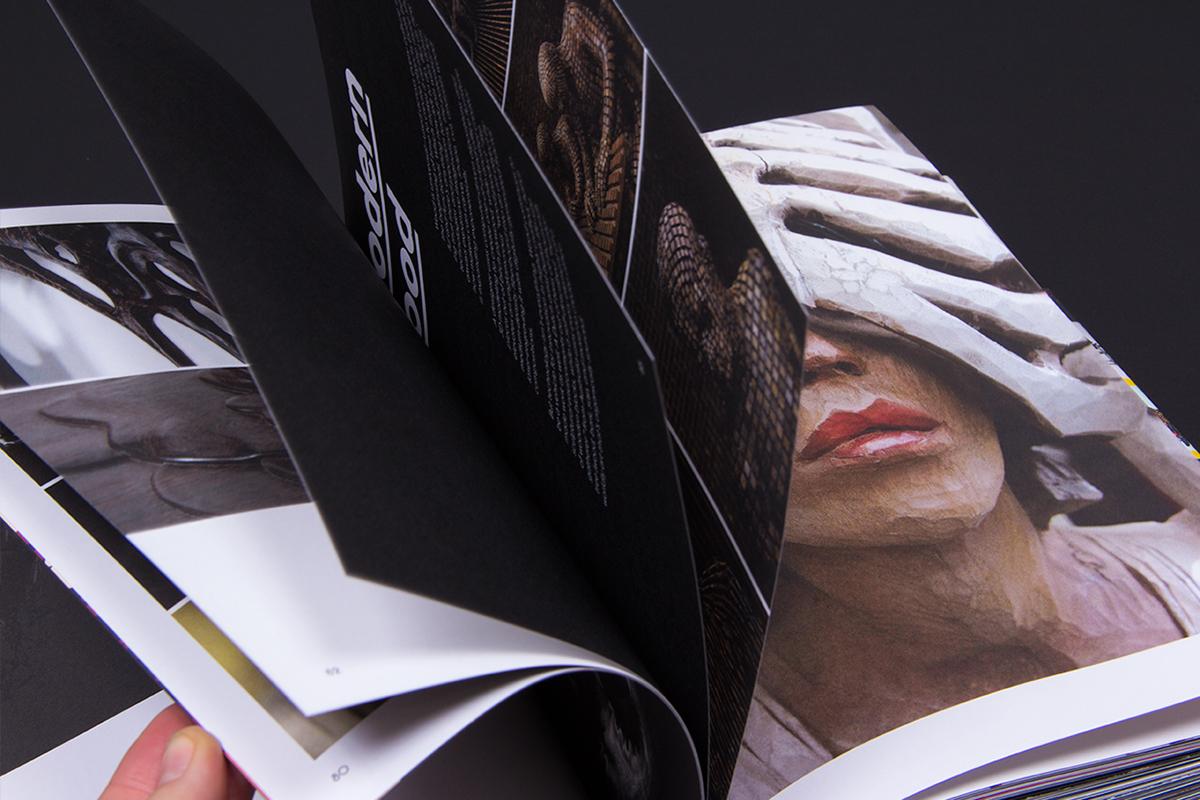 Adobe Portfolio Behance book Supermodified art design creative type modern matias corea