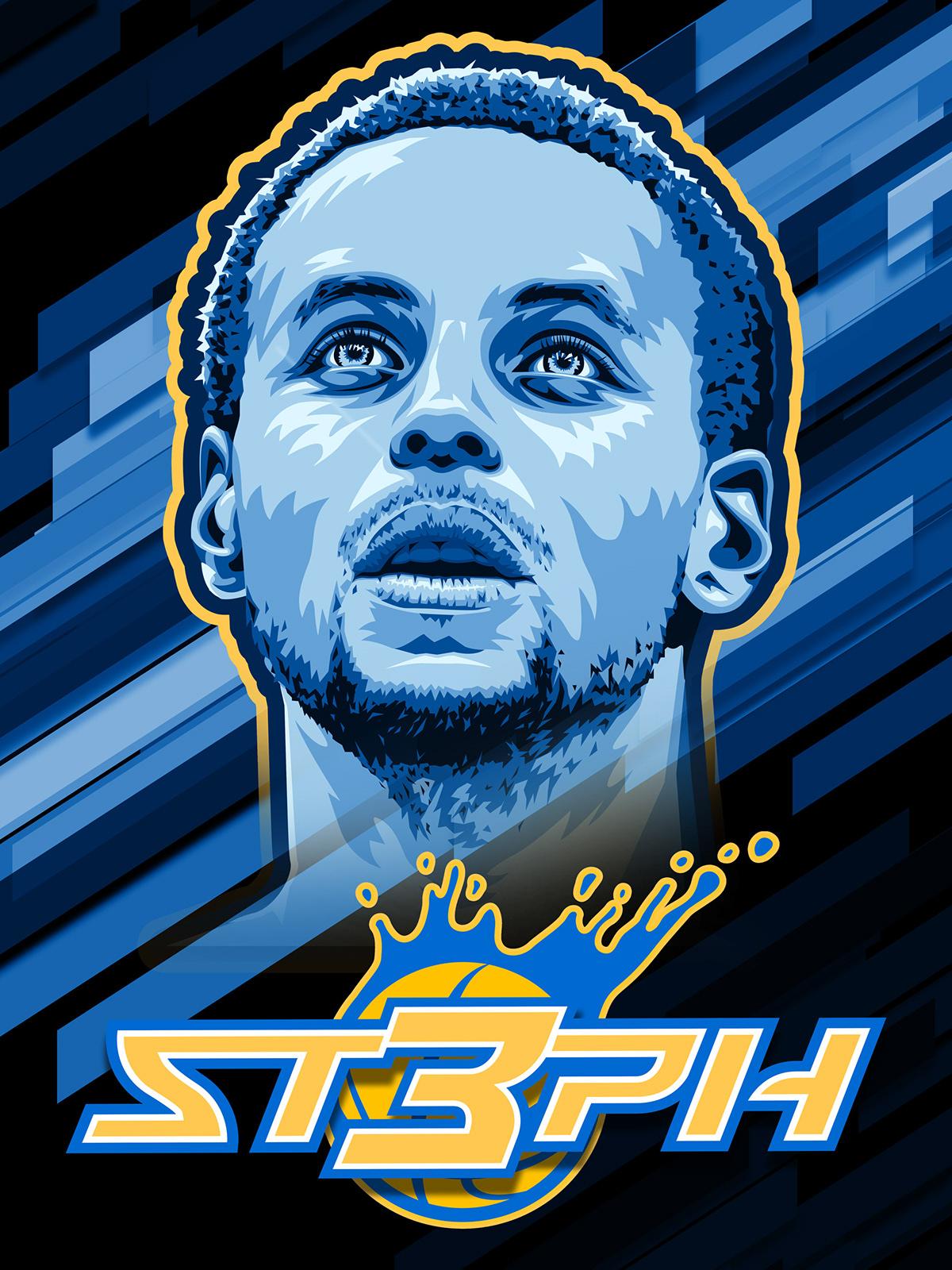 Steph Curry Vector Illustration Logo On Behance